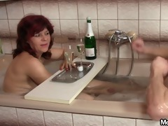 old stepmom and stepdad are glad by not a sons gf