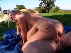 outstanding youthful babes getting drilled -