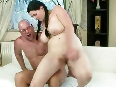 fortunate older man fucking with breasty legal