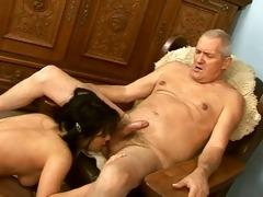 ass drilling - girl licking ass of mature fellow